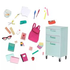 Our Generation Medium Accessory - School Room Supplies : Target Our Generation Doll Accessories, School Accessories, Our Generation Dolls, My Life Doll Accessories, Accessories Online, Girl Dolls, Barbie Dolls, American Girl Doll Sets, Journey Girls