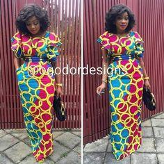 Resultado de imagem para fashionable african dresses (With images) African Dresses For Women, African Print Dresses, African Print Fashion, Africa Fashion, African Attire, African Wear, African Fashion Dresses, African Women, Ankara Fashion