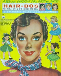 Hair-Dos to try on life-size model 1960 uncut book – Bobe Green – Webová alba Picasa