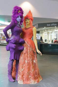 Lumpy Space Princess and Flame Princess #cosplay (from Adventure Time)