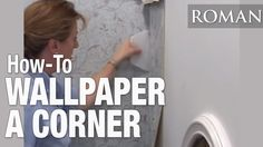 How to Hang Wallpaper in a Corner Wallpapering Tips, How To Install Wallpaper, Helpful Hints, Corner, Wallpaper Installation, Youtube, Walls, Sweet, Pattern