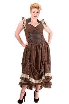 Steampunk Plus Long Brown Black Striped Goth Vintage Victorian Corset Dress Victorian Steampunk Dress, Steampunk Corset Dress, Steampunk Bags, Victorian Era, Steampunk Wedding, Steampunk Fashion, Vintage Inspired Dresses, Vintage Dresses, Plus Size Steampunk