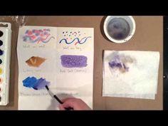 Basic Watercolor Techniques Demo - 5th grade