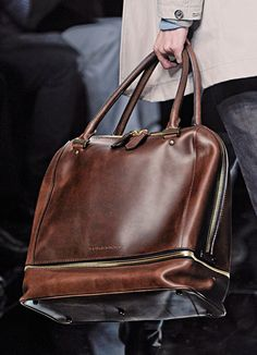 Burberry Tarnished Leather Carryall Bag