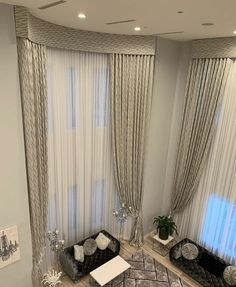 Tall Window Treatments, Window Coverings, Green Curtains, Curtains With Blinds, Curtains Living, Curtain Styles, Curtain Designs, Home Living Room, Living Room Decor