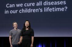 2016-9-21 - Facebook's Zuckerberg, wife Chan pledge $3 billion to end disease - Photo: In this  Sept. 20 photo, Facebook CEO Mark Zuckerberg and his wife, Priscilla Chan, rehearse for a speech in San Francisco. (Jeff Chiu / Associated Press)