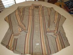 Polo by Ralph Lauren Mens XXL long sleeve striped button up Shirt GUC @ #PolobyRalphLauren #ButtonFront