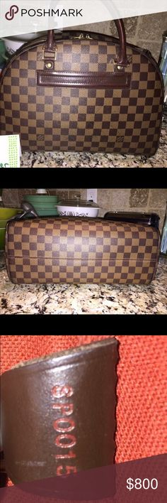 Authentic Louis Vuitton Damier Ebene Nolita This bag is in overall great shape! There is some rubbing on the bottom corner but it's honestly not very noticeable while carrying. Interior is clean and has no odors. Hard to find bag and a great price! Louis Vuitton Bags