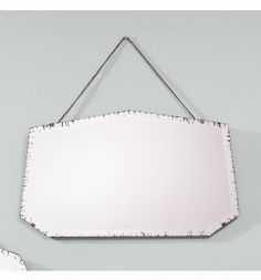 Vintage Frameless Overmantle Mirror with Chain -Windsor