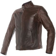 Dainese Mike Leather Jacket - Dark Brown - FREE UK DELIVERY
