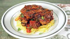 Christine Zall's Grilled Chicken Cacciatore  with Spaghetti Squash