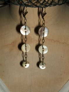 Button Earrings -