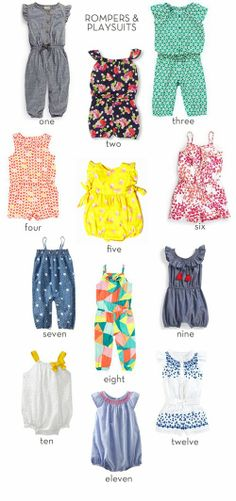 rompers & playsuits || thrifty littles blog