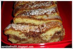 soraiasilva <3: Bolo Marmoreado de Chocolate e Canela com Crosta de Coco