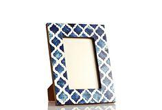 Blue Bone Damask Frame, 4x6 on OneKingsLane.com
