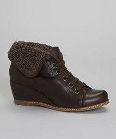 Brown Fold-Over Vega Ankle Boot