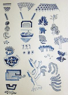 Image detail for -... to draw each individual whole willow pattern motif onto an a3