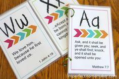 Printable ABC Bible Memory Verses for Preschoolers - Imperfect Homemaker