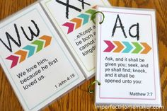I will not be using king james but i can still have a jumping off point. Printable ABC Bible Memory Verses for Preschoolers