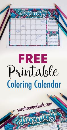 2017 free printable calendar with bonus how to draw shadows tutorial