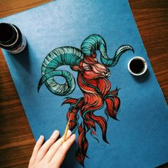 Arieses by Lera Razvodova, via Behance