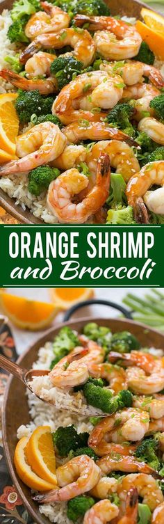 Orange Shrimp and Broccoli with Garlic Sesame Fried Rice - The perfect quick and easy meal for a busy weeknight or for entertaining guests.
