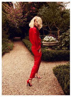 scarlet suit
