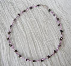Sternenhimmel Hämatit Beaded Necklace, Jewelry, Lilac, Malachite, Chain, Schmuck, Beaded Collar, Jewlery, Bijoux