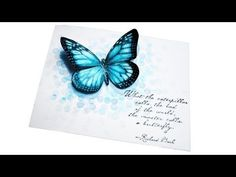 Blue Bokeh Butterfly by Understandblue - Cards and Paper Crafts at Splitcoaststampers Art Journal Techniques, Card Making Techniques, Paper Art, Paper Crafts, Butterfly Cards, Blue Butterfly, Bokeh Background, Card Tutorials, Card Tags