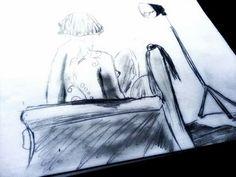 CLAUDIA TONELLI  by Caranguexo, 2014, (Artistic nude studies), coachoal on paper A3