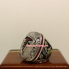 2016 Atlanta Falcons NFC Football Championship Ring Championship Rings, Atlanta Falcons, National Football League, Carolina Panthers, Super Bowl, Two By Two, National Soccer League