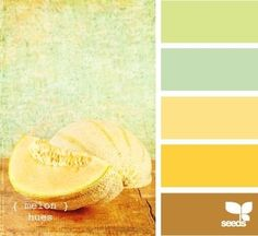 Melon Hues from design seeds - bedroom possibly by francine