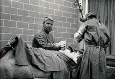 Animal surgery at the Ontario Veterinary College (OVC) in 1967.
