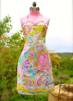Hand Painted Original Mixed Media Wearable by CharlottesCollection