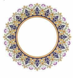 No photo description available. Islamic Motifs, Islamic Art Pattern, Arabic Pattern, Pattern Art, Pattern Design, Persian Motifs, Motif Design, Motif Oriental, Paisley Art