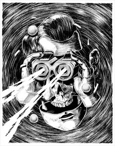 An awesome new ink on paper illustration by Smithe, a graffiti artist and illustration from México.