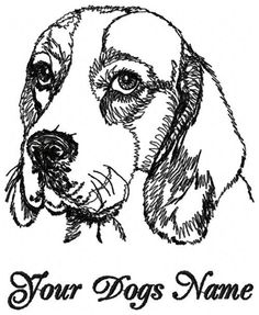 Personalized BEAGLE Custom Embroiderd Dog Breed T-shirt  Youth - Adult XL #HanesorPortCompany #ShortSleeveCrewneckTshirt