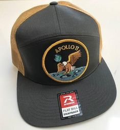 """Apollo 11 Patch Cap - with velcro Apollo 11 3"""" Patch This custom cap is absolutely One Giant Leap! A Richardson Style-168 cap,which alone, is a great cap and well known for being the best caps made in the USA...then add a velcro attachment to the face...and then add an AB Emblem, 3"""" Apollo 11 Patch? You now have a v"""