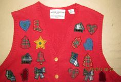 Christmas Ugly Sweater Vest Marisa Christina Petite 1998 Jingle Bells Mittens #MarisaChristina #VestSleeveless