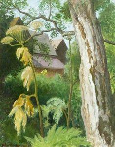 John Arthur Malcolm Aldridge(1905-1983) - Silver Birch. 1981. Oil on canvas.