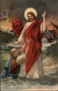 Jesus Walking on Water and St Peter Jesus Our Savior, Jesus Is Lord, God, Pictures Of Christ, Bible Images, Christian Pictures, Jesus Face, Biblical Art, In Christ Alone