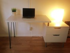 Cute Ikea hack.  I still hate Ikea furniture though.  At least the kind you sit or lie on.