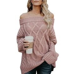online shopping for FEIYOUNG Women Long Sleeve Slim Fit Cable Basic Off Shouder Pullover Sweater Knit Jumper from top store. See new offer for FEIYOUNG Women Long Sleeve Slim Fit Cable Basic Off Shouder Pullover Sweater Knit Jumper Pullover Mode, Pullover Sweaters, Sweatshirt, Knitting Sweaters, Cable Knitting, Casual Sweaters, Winter Sweaters, Oversized Sweaters, Jumpers For Women