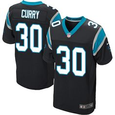 mens nike carolina panthers 30 stephen curry elite black team color nfl jersey