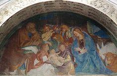 Natività. Lunetta della chiesa di S. Antonio, Morbegno (SO)