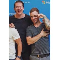 Zach, Eddie, and Ryan's arm. Hahaha.