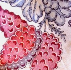 Chintz fabric from Coromandel Coast, India Pattern Art, Color Patterns, Print Patterns, Textile Design, Fabric Design, Chintz Fabric, Indigo Prints, Textile Fabrics, Butterfly Print
