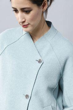 Jacke Heloise Balenciaga Jacket, Minimal Dress, Patchwork Dress, Casual Tops For Women, Winter Wear, Daily Fashion, Mantel, Women Wear, Couture