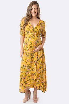 Harlow Maternity & Nursing Wrap Dress - Tuscan Sun – Maive & Bo