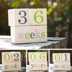 What a great idea! You can take a picture each week/month and so on. :) wish I had this for Christian. I still took his picture every month though lol